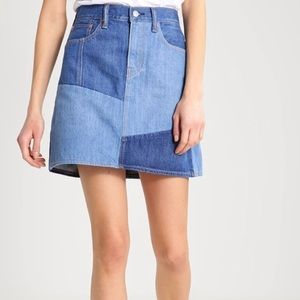 Levi's Every Day Patchwork Jean Mini Skirt